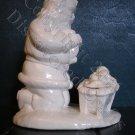 Kneeling Santa Ceramic Sculpture