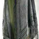 Shawls with Leaf Pattern Burnout Design
