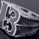 925 SILVER LUCKY 13 CLAW CHOPPER BIKER RING SZ N to Z3