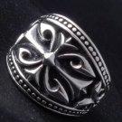 925 Sterling Silver Tribal Cross Rock Biker King Battle Crusader Ring sz N to Z3