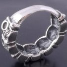 925 STERLING MULTI SKULL BIKER CHOPPER RING SZ N-Z3