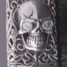 925 Silver 4GB USB Skull Biker Flashdrive Pendant