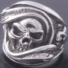 925 Sterling Silver Pirate Skull Biker Rebel Ring sz N to Z3