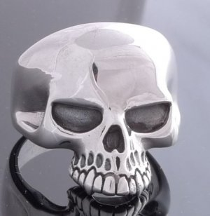 925 SILVER KEITH RICHARD COOL SKULL RING sz N to Z3