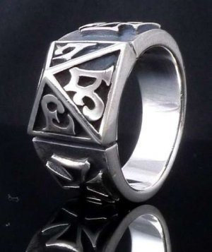 925 Silver Gothic Tribal Cross Biker Rebel Ring sz N to Z3 / US sz 7 to 15