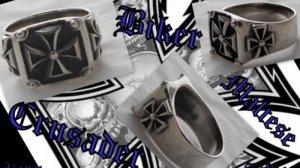 925 SILVER IRON CROSS BIKER KING CHOPPER RING US sz N-Z4 / US sz 7 to 15
