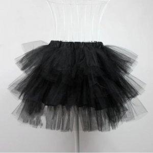 black lolita petticoat skirt for cocktail