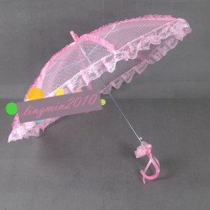 pink lace parasol umbrella elegant wedding party