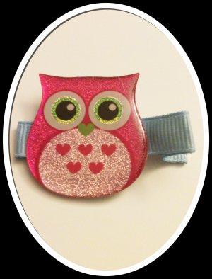 PINK SPARKLE OWL