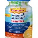 Emergen-C Immune + Gummies Super Orange 500mg Vitamin C Supplement - 45 Count Pack