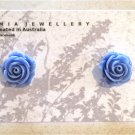 Lavender Blue Flower Stud Earrings by Aus Made Jaimia Jewellery