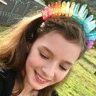 Crystal Stone Tiara Crown  l  Rainbow