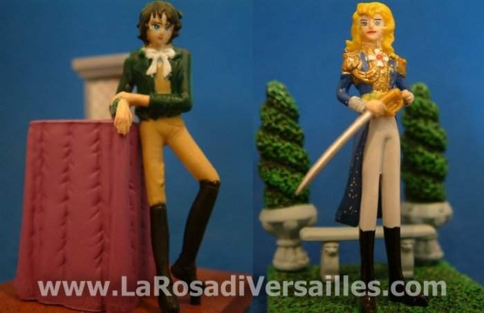 THE ROSE OF VERSAILLES, COCA COLA MINIATURES OSCAR ET ANDRE