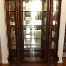 Early 1800's Mahogany Carved China Cabinet