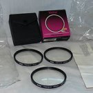 VIVITAR 72 72mm CLOSE UP SET +1+,2+,4 Filters  72CUS Made In Japan   NEW