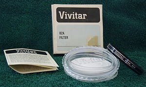 VIVITAR 49 49mm 82A Filter 4982A Coated  old stock   New   Made In Japan
