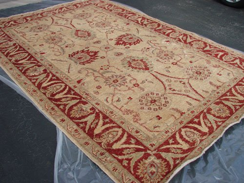 Hand Made Vegetable Dyed Peshawar Oriental Chobi Rug Carpet 10x8 i30709
