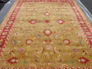 Hand Made Vegetable Dyed Peshawar Oriental Chobi Rug 12x9 i70727