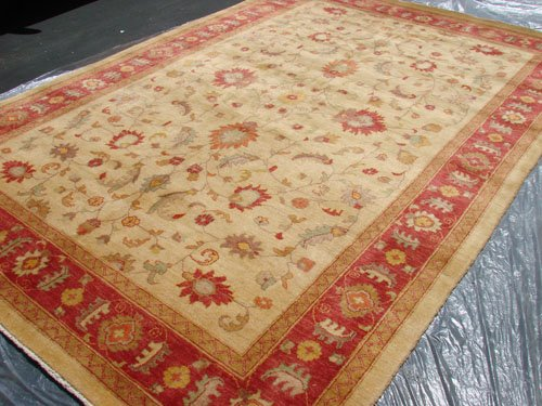 Rare Hand Made Vegetable Dyed Peshawar Oriental Chobi Rug 12x8 i30731