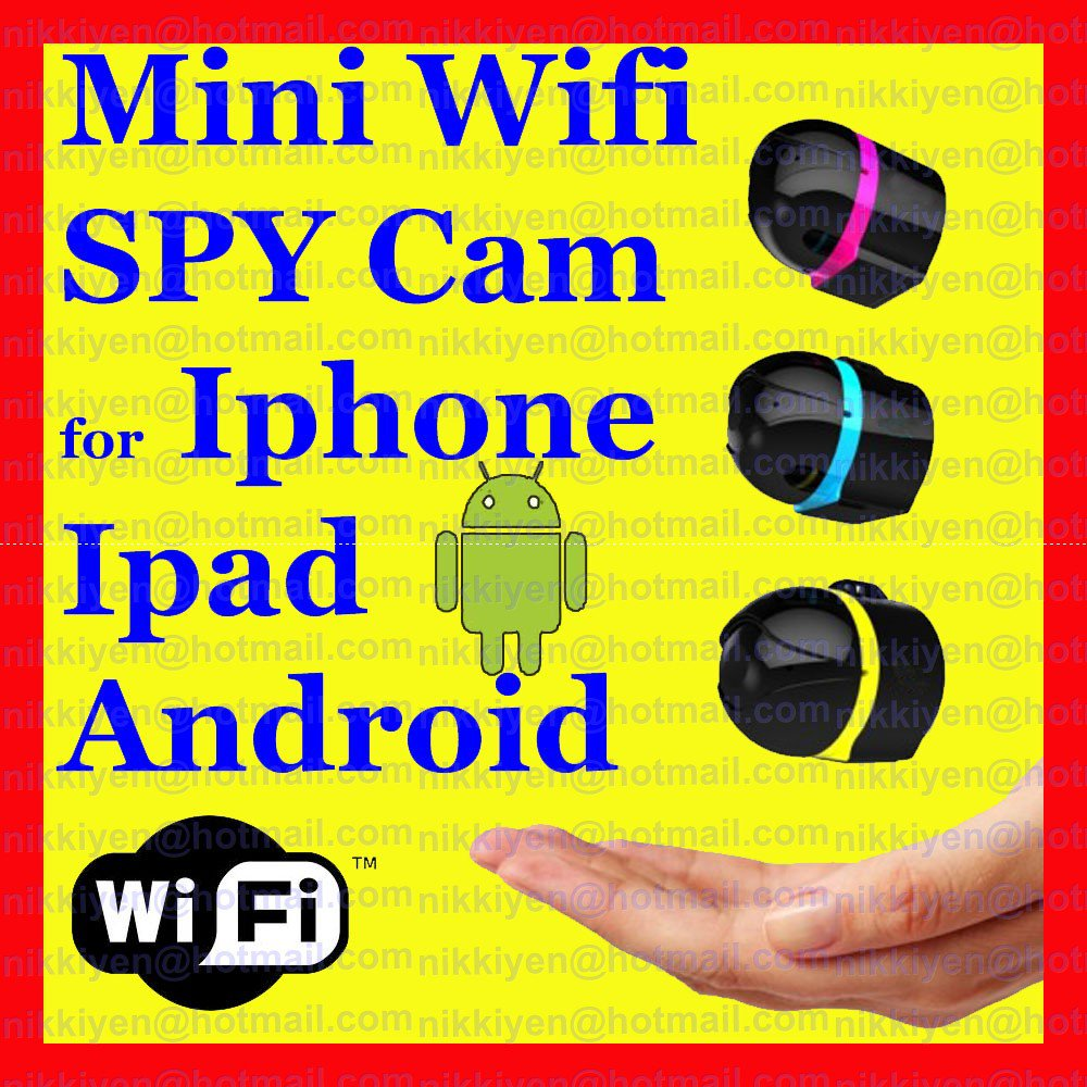 Mini Wireless Portable WIFI Spy IP suvreillance Camera for Smart Phone & Ipad