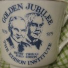 Henry Ford Thomas Edison Golden Jubilee Mug Edison Institute 1979