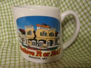 Branson, MO Ripley's Believe It or Not! Slanted mug coffee cup