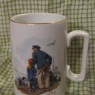 "Porcelain Norman Rockwell ""Looking Out to Sea"" china cup, mug"