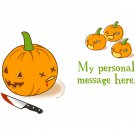 Personalized Kawaii T-Shirt - Size XL - Unisex White - Halloween Pumpkins