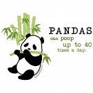 Kawaii T-Shirt - Size XL - Unisex White - Pandas Can Poop