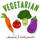 Ladies' T-Shirt - Size XL - White - Kawaii Vegetables - Vegetarian