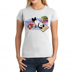 Junior Fit Ladies' T-Shirt - Size S - White - Kawaii Knowledge is Panda