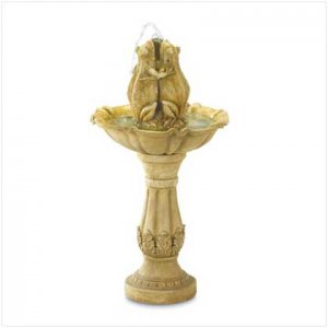 Frog Fountain with Stand