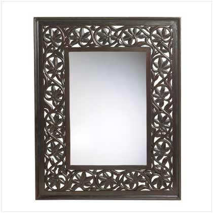 Wood Carved Framed Mirror