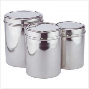 3 PC STAINLESS STEEL CANISTER