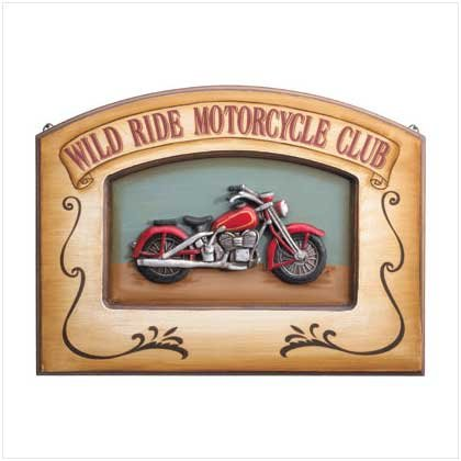 WILD RIDE MOTORCYCLE PLAQUE