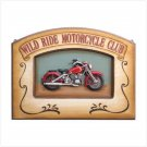 WILD RIDE MOTORCYCLE PLAQUE