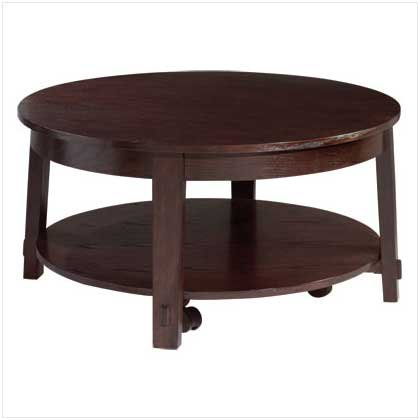 """WOOD ROUND COFFEE TABLE - 38"""""""