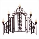 WROUGHT IRON FENCE 5 CNDLHOLDR