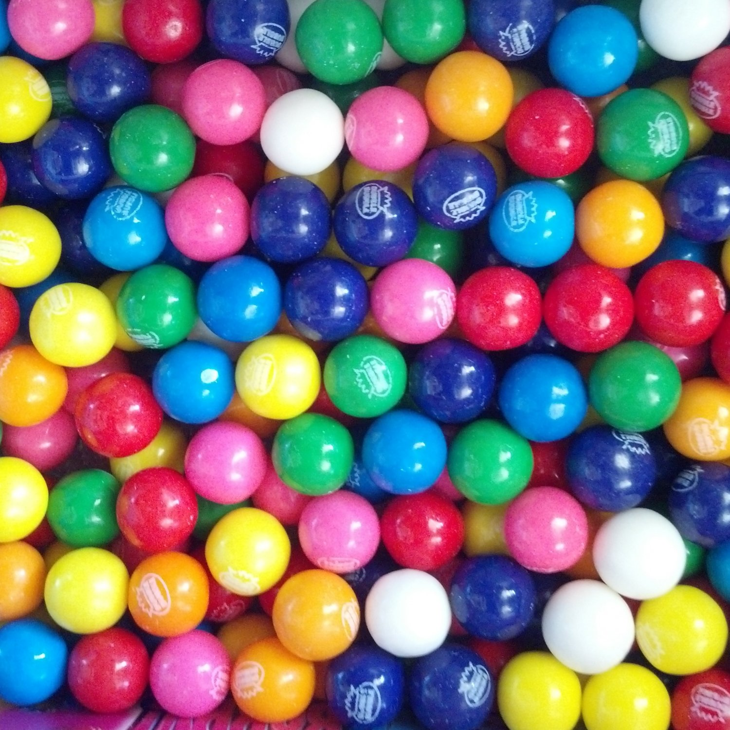 "6 Lbs Of 1/2"" Dubble Bubble Gumballs Assorted 8 flavors With Vending Card"