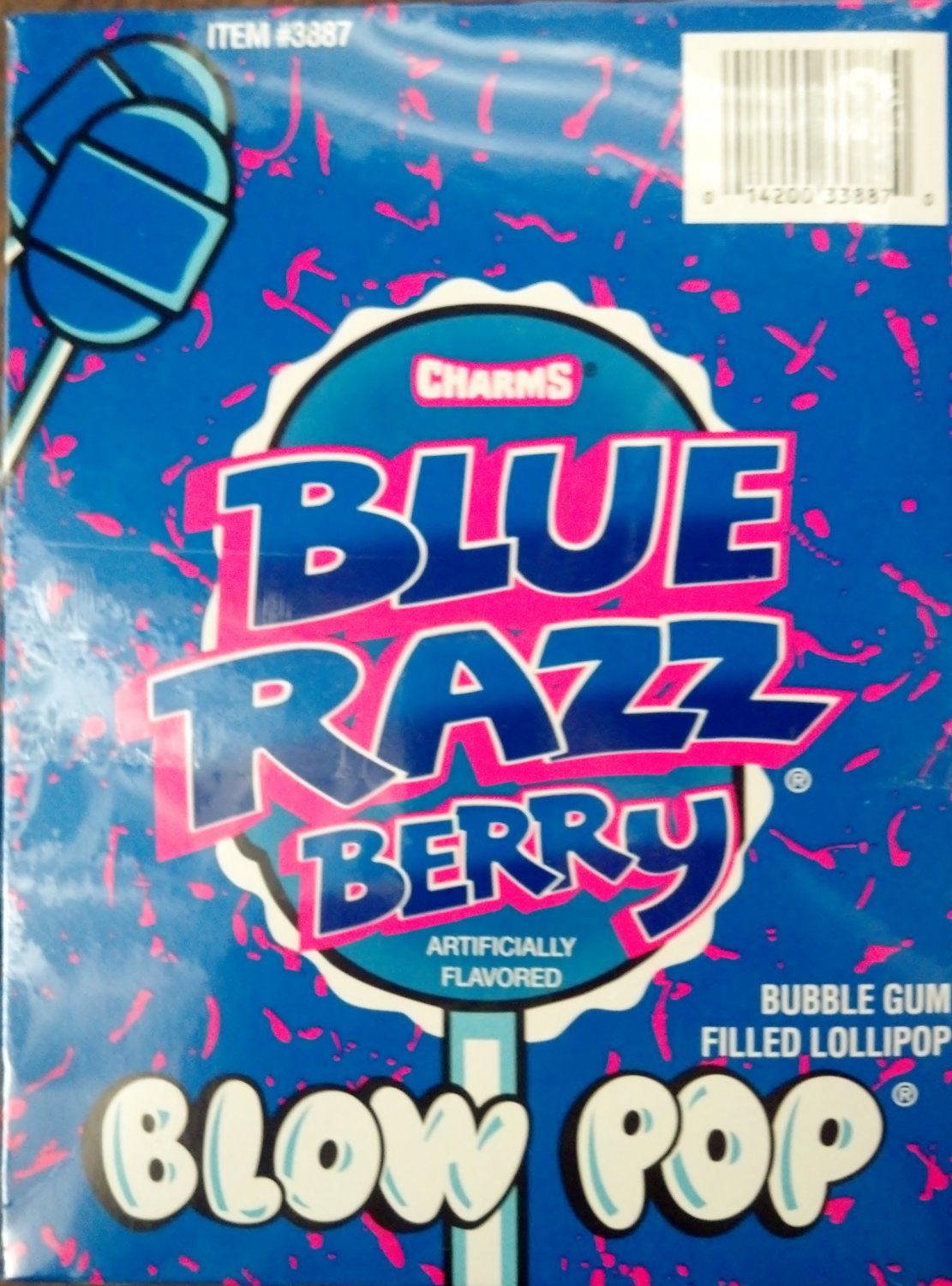 Charms Blow Pop Blue Razz Berry 48 Count