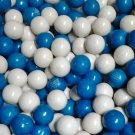 "Dubble Bubble Blue & White 1"" Gumballs 2 Lbs"