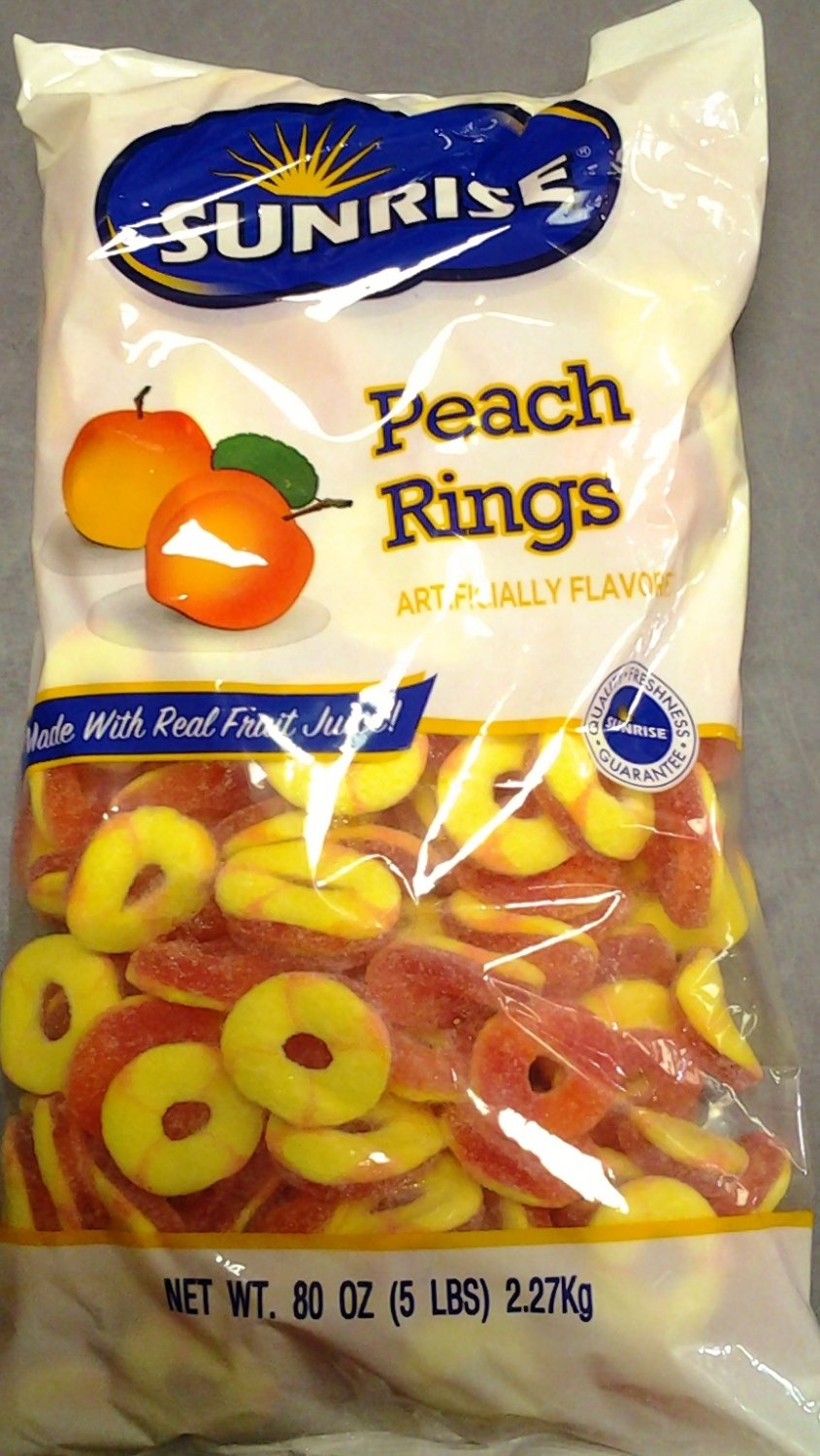Peach Rings Gummy Candy 5 Lbs