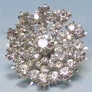 *Vintage and Gorgeous, Sparkling Rhinestone Starburst Brooch by Kramer of New York