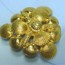 *Mimi di N Elegant Goldtoned Metal Sea Shells in a Wonderful Belt Buckle, 1973 Vintage Piece