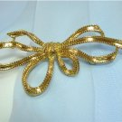 "*Trifari Goldtoned ""Bow"" Brooch/Pin, Elegant Redo of 1942 Phillipe Design"