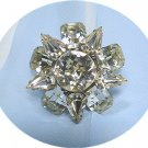 *Totally Stunning Kramer of New York Brooch with Brilliant Large Rhinestones