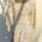 Elegant Sequined Lace Dress by Tee-ca:  Perfect for Mother of the Bride, Party, Special Occasion