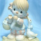 "Precious Moments Figurine: "" Waddle I Do Without You"", 1985, #12459 Enesco, Dove Mark, Exc. Cond."