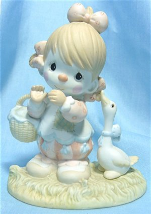 """Precious Moments Figurine: """" Waddle I Do Without You"""", 1985, #12459 Enesco, Dove Mark, Exc. Cond."""