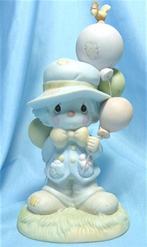 """Precious Moments Figurine: """"I Get a Bang Out of You"""", 1984, Enesco #12262, Olive Branch Mark, Exc."""